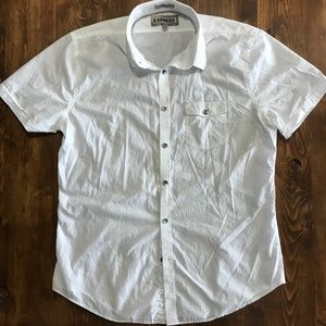 Express Short Sleeve Casual Dress Shirt